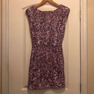 Alice + Olivia Pink Sequin Keyhole Dress